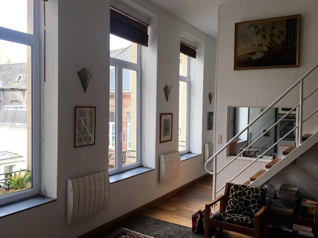 Vente appartement - Vieux Lille, Beau duplex 2 chambres, parking