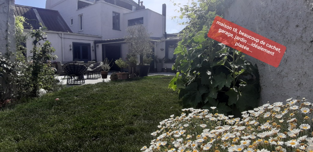 Vente maison 59320 Haubourdin - HAUBOURDIN  Belle maison semi bourgeoise T8 jardin garage.