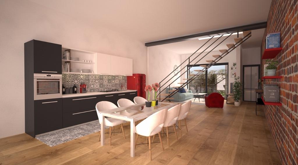 Vente appartement 59000 Lille - Très beau type 3 en duplex au cœur du quartier St Michel