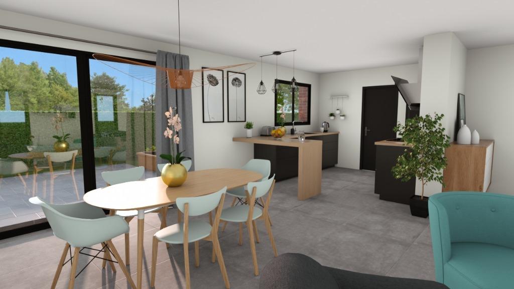 Vente maison - ENNEVELIN - Maison neuve individuelle 144 m2, 4 ch, exp SO