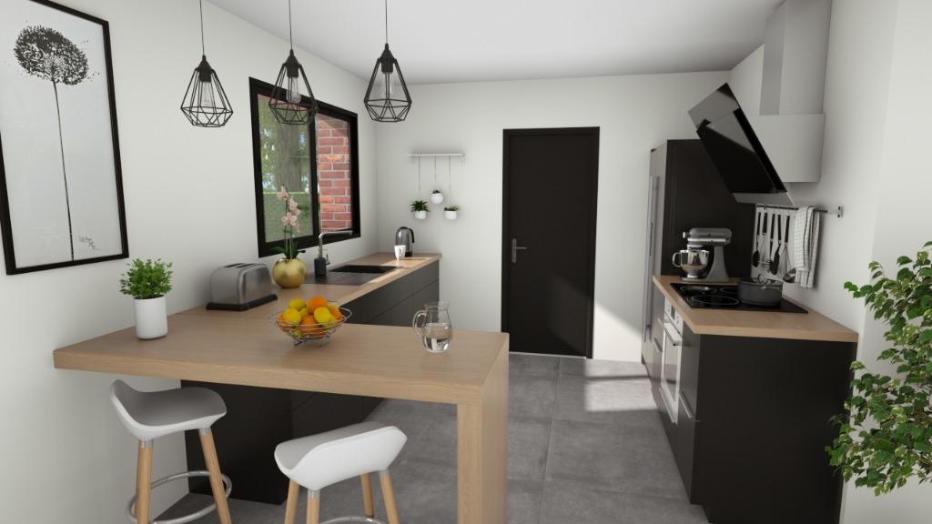 ENNEVELIN - Maison neuve individuelle 144 m2, 4 chb, exp SO