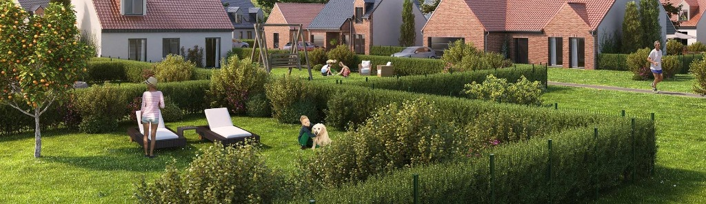 Vente maison - BAUVIN - 2 maisons 4 chambres 128.8m2 avec jardin
