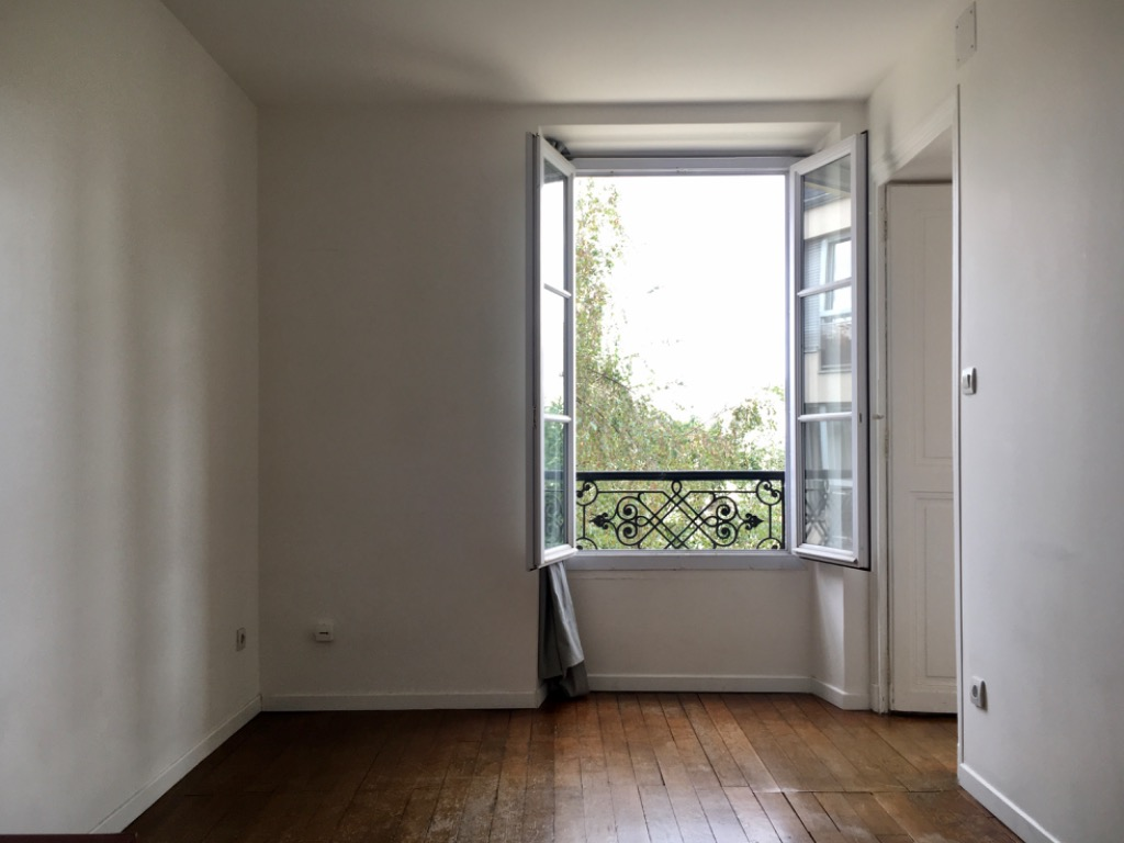 Paris 13 - Métro Tolbiac - 2 pièces avec vue sur jardin