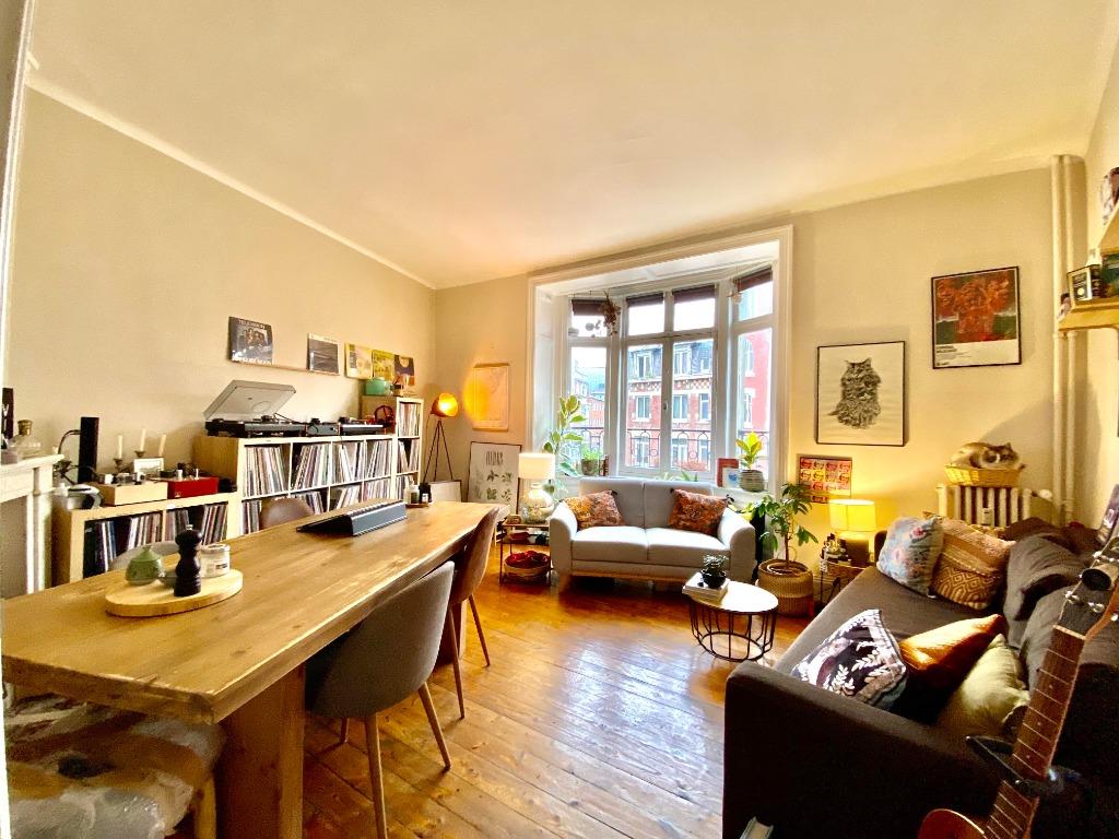 Vente appartement 59000 Lille - Spacieux type 2 au cachet préservé