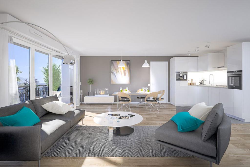 Vente appartement - LINSELLES - T3  59,41 m2 avec terrasse, jardin et parking