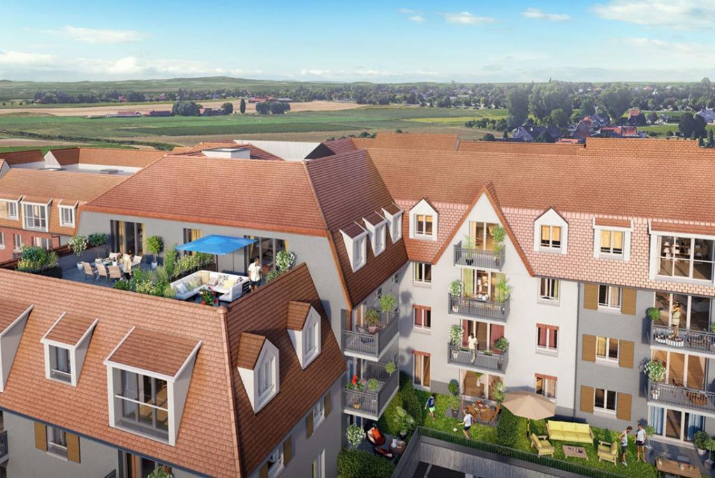 LINSELLES - T3  59,41 m2 avec terrasse, jardin et parking