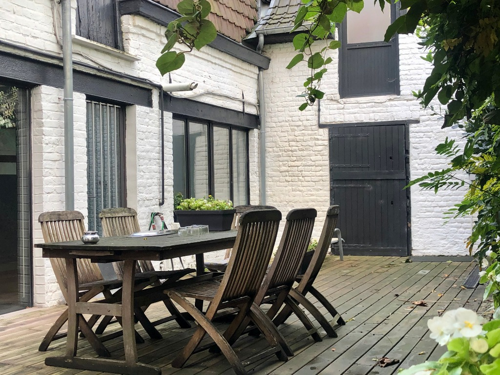Roncq/Maison Flamande semi individuelle- Garage/Exterieur