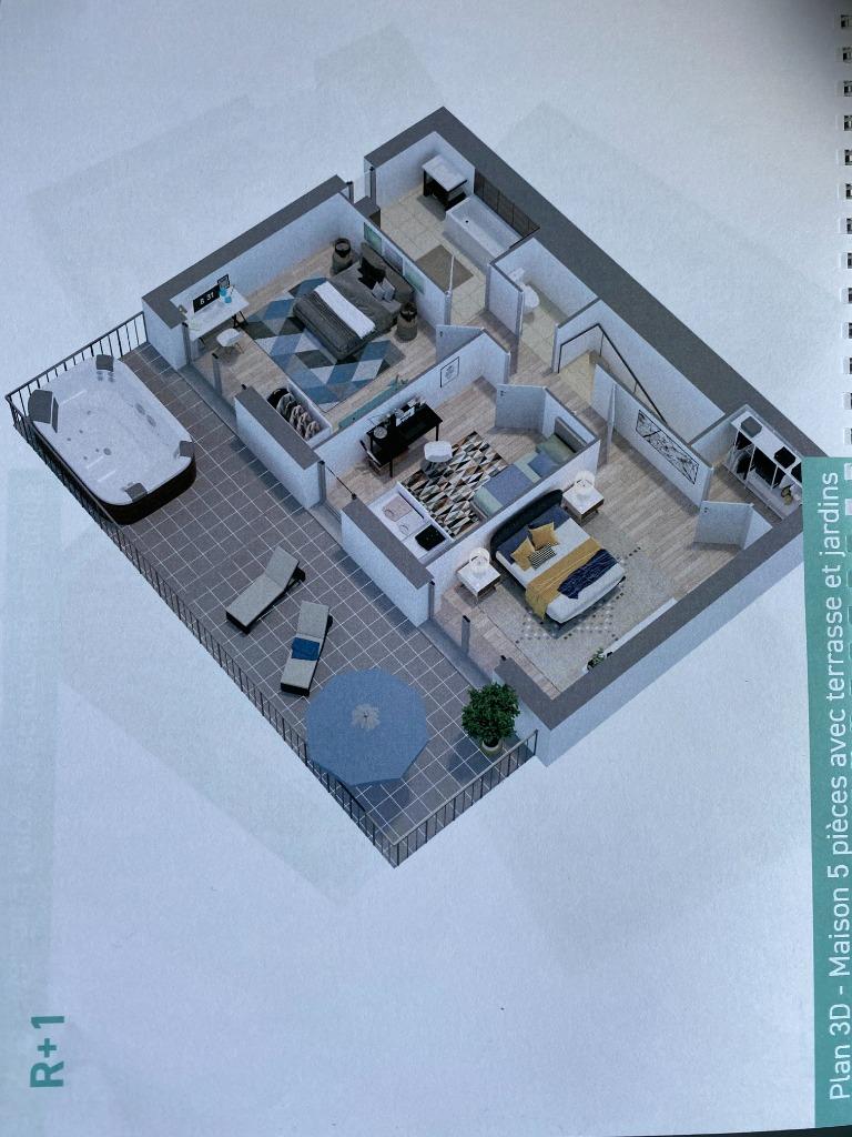 Lille, maison neuve individuelle 4 chambres jardin, parkings