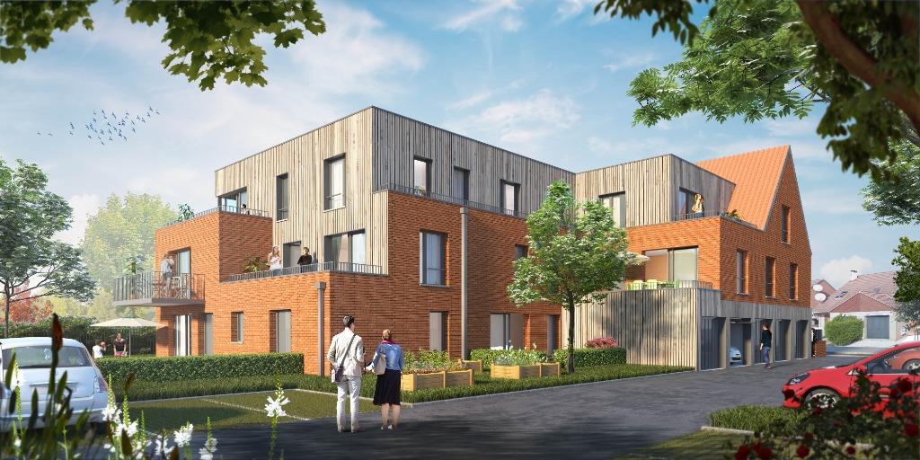 Vente appartement - PREMESQUES - Appart T3 - 2 chb, balcon, garage et parking