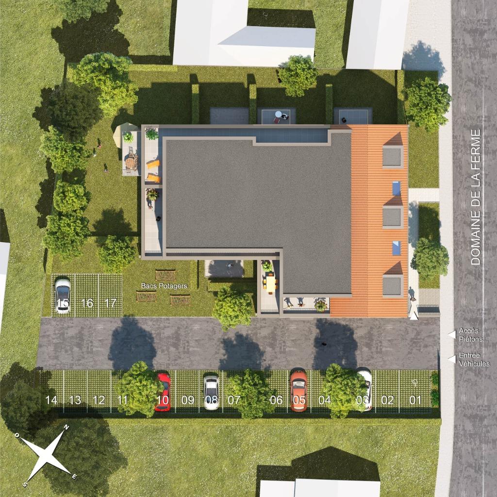 PREMESQUES - Appart T3 - 2 chb, balcon, garage et parking