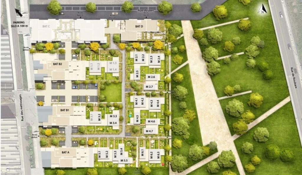Vente maison - TOURCOING - Maison avec jardin - éligible Pinel
