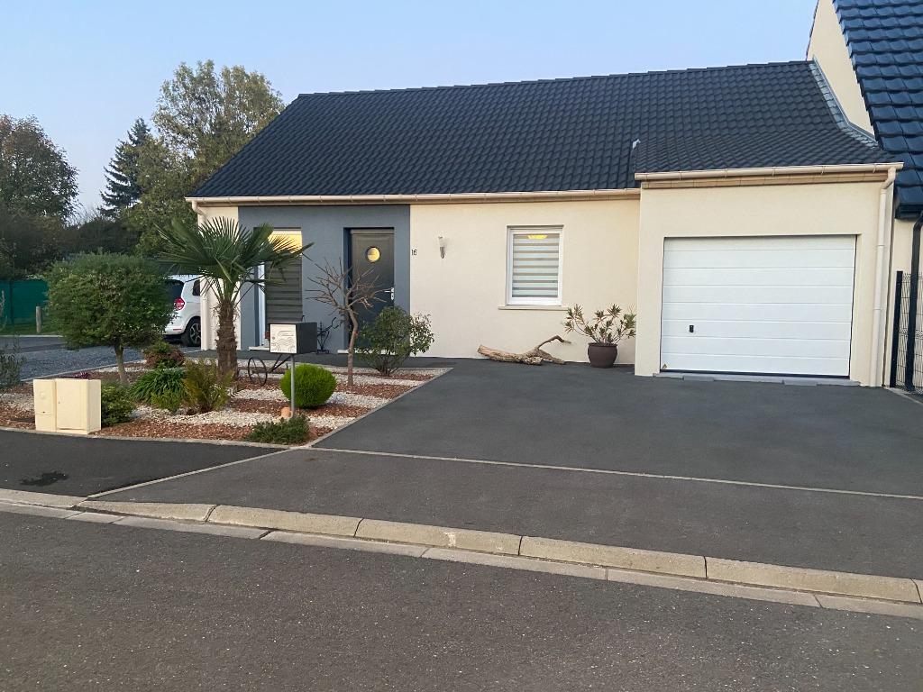Vente maison 59136 Wavrin - WAVRIN- PLAIN-PIED SEMI-INDIVIDUEL de 2016-Jardin- Garage