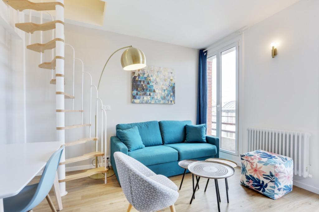Location appartement - Paris 20 - Métro Maraîchers - 2 pièces avec balconnets