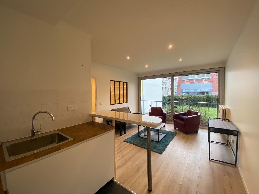Location appartement 59000 Lille - LILLE Cormontaigne - T2 meublé avec balcon, parking et cave