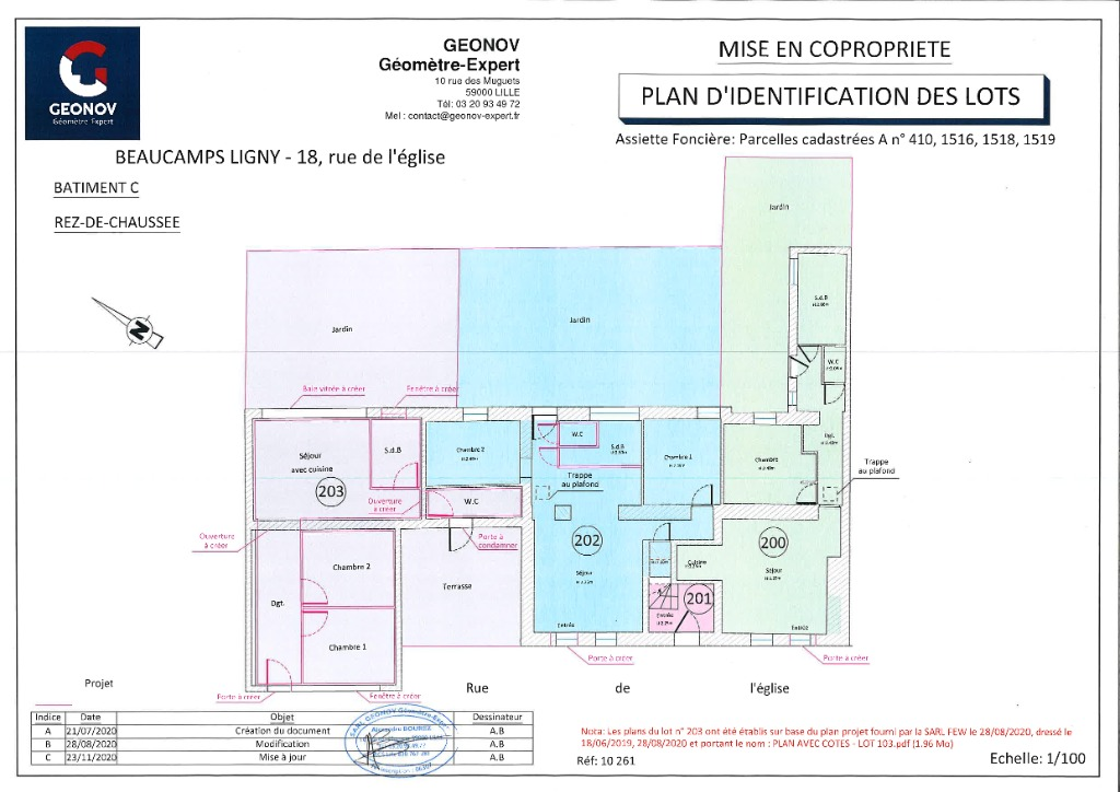 Vente appartement 59134 Beaucamps ligny - appartement lot 203 53m² 2 chambres neuf