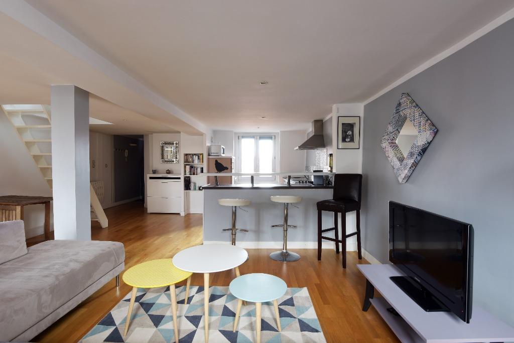 Vente appartement - Vieux Lille, grand T2 en duplex avec terrasse