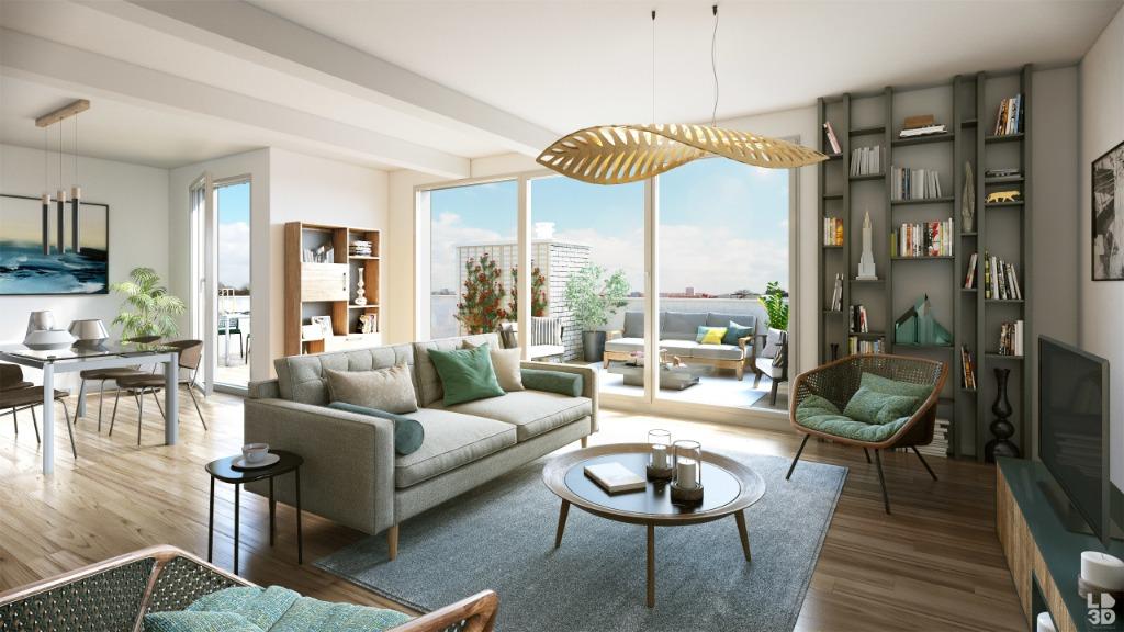 Vente appartement - Lille dans l'îlot Saint-Maurice, T3 avec terrasse et parking