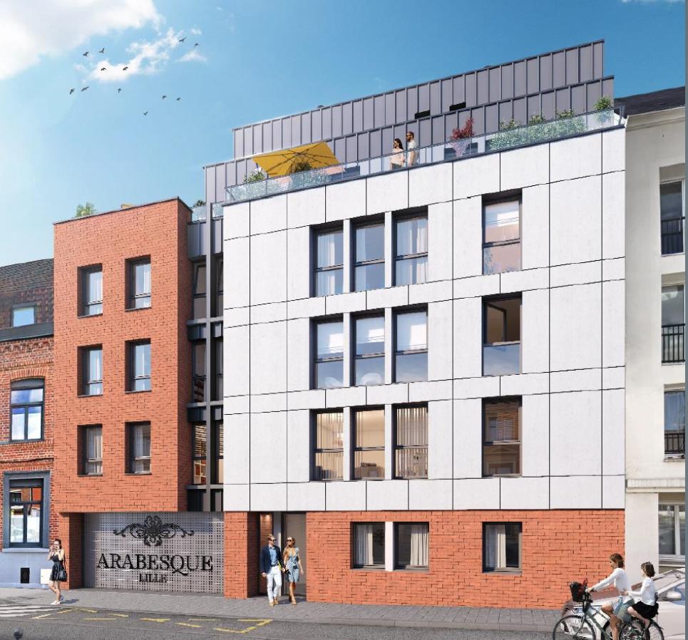 Vente appartement - Lille dans l'îlot Saint-Maurice, T3 neuf terrasse, parking