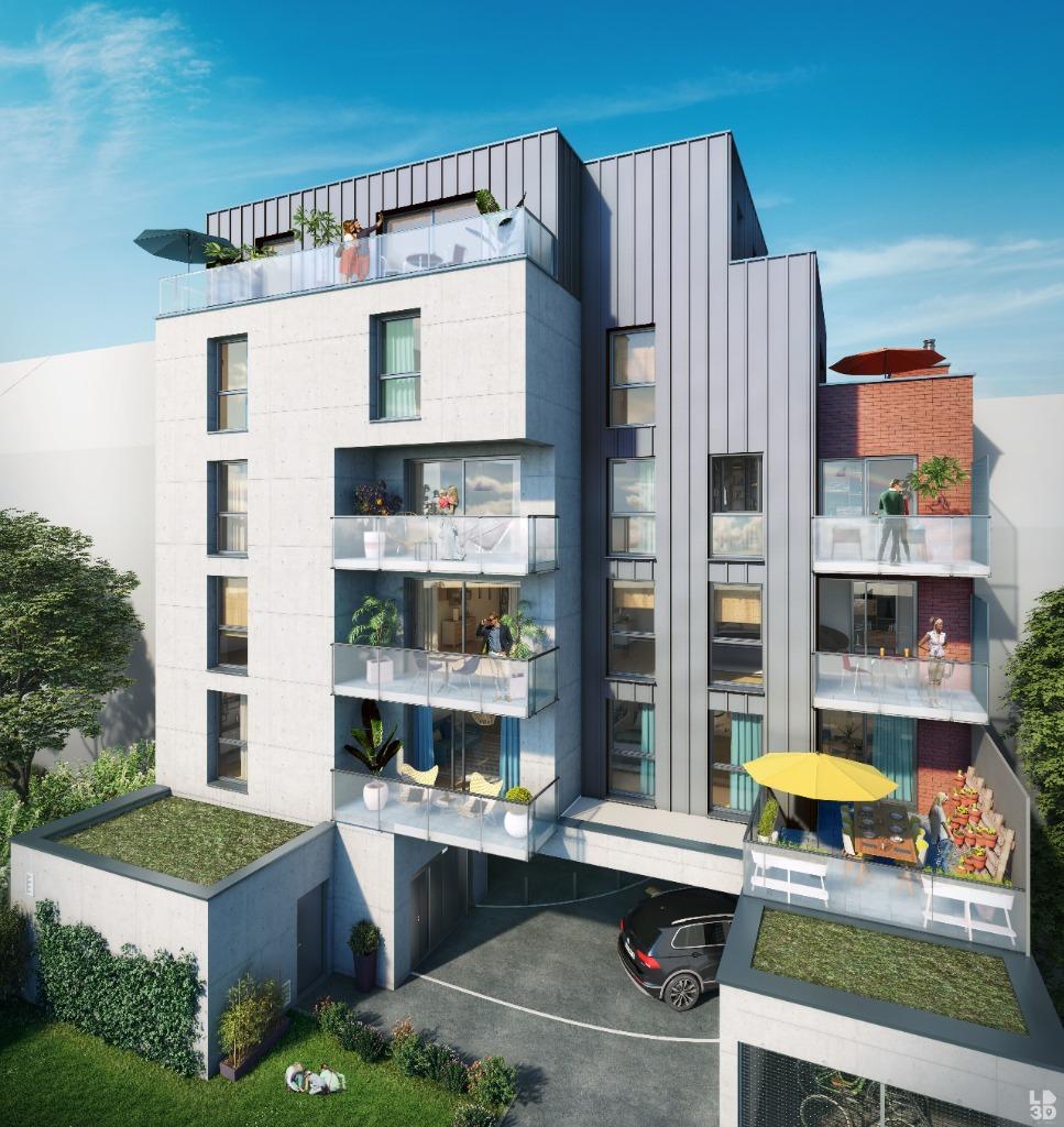 Lille dans l'îlot Saint-Maurice, T4 neuf terrasse et parking