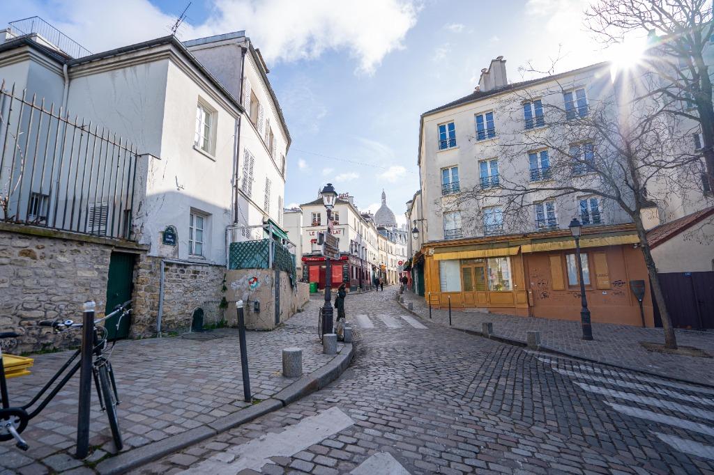 Paris 18 - Village Montmartre - 2 pièces avec vue
