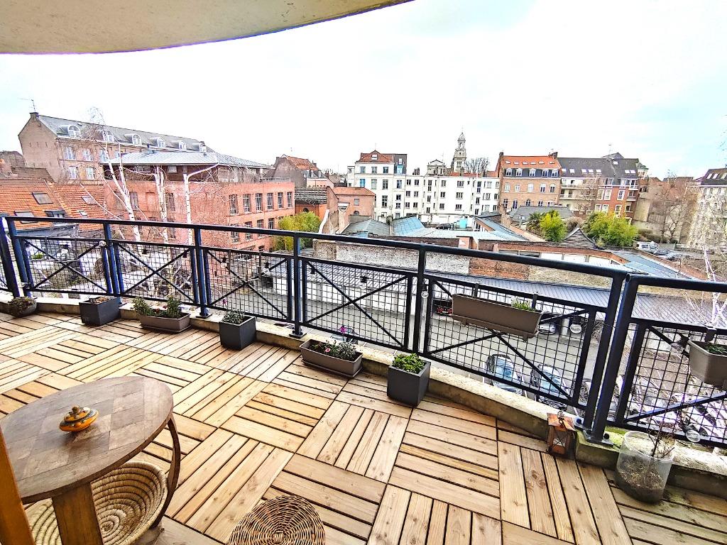 Vente appartement 59000 Lille - T3 Vieux Lille - Parking - Grande Terrasse ensoleillée