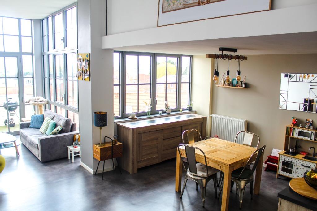 Vente appartement - Loft de 90m2 dans une ancienne Filature - WAMBRECHIES