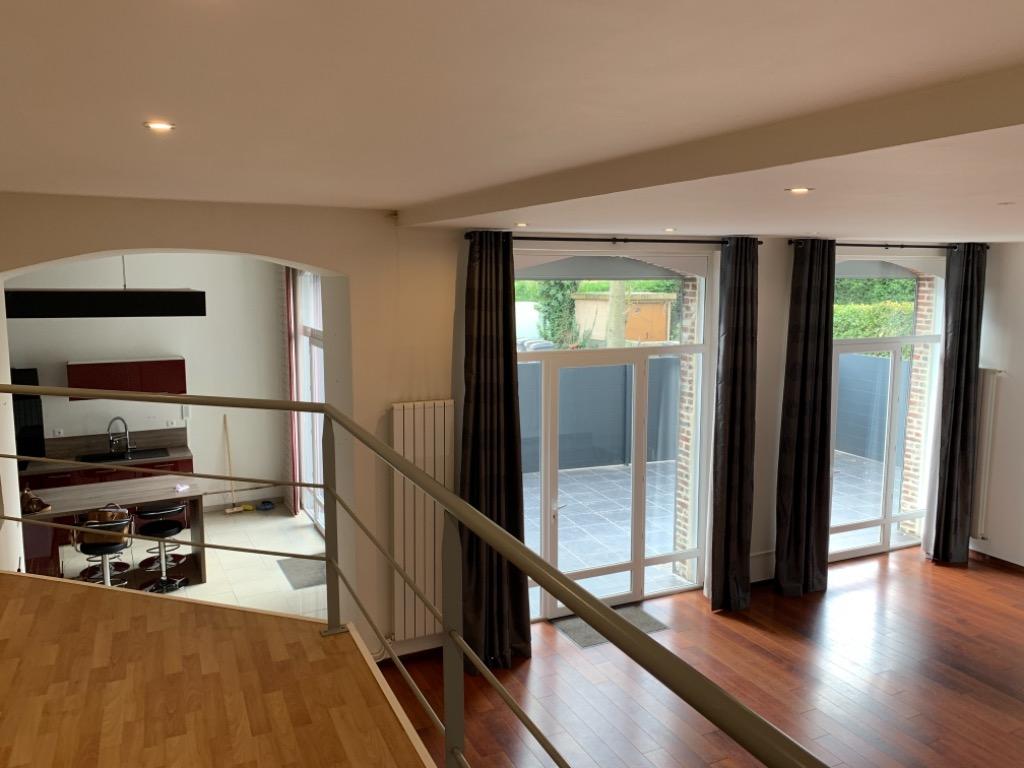 Vente appartement - HEM - Loft au rez de chaussée 2 chambres
