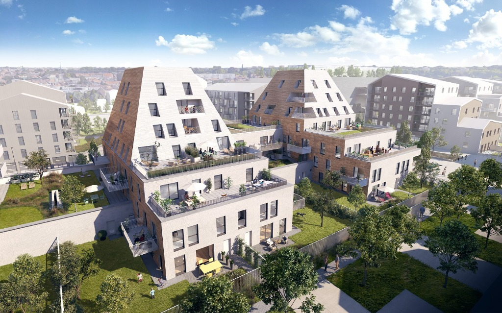Vente appartement - VILLENEUVE D'ASCQ La Maillerie - Appartement neuf 3 chambres