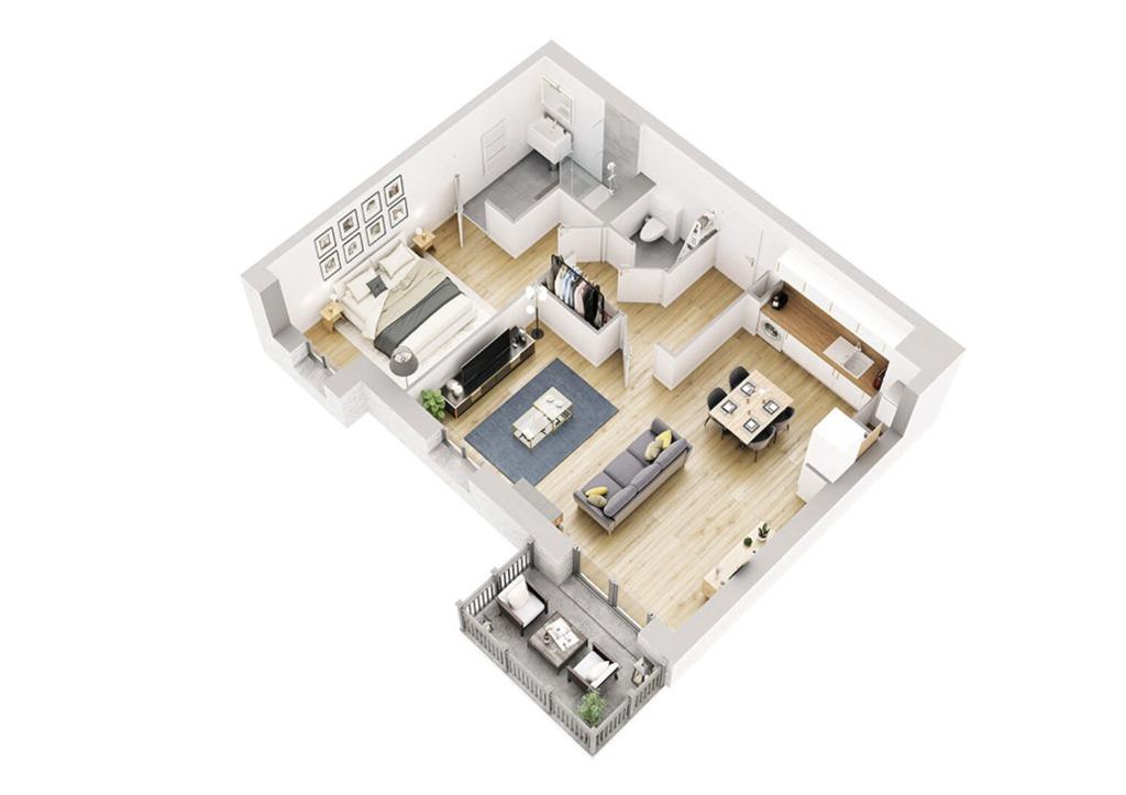 Vente appartement - MARCQ-EN-BAROEUL - PROGRAMME ROMANCES - T2 BATIMENT C1 ET D1