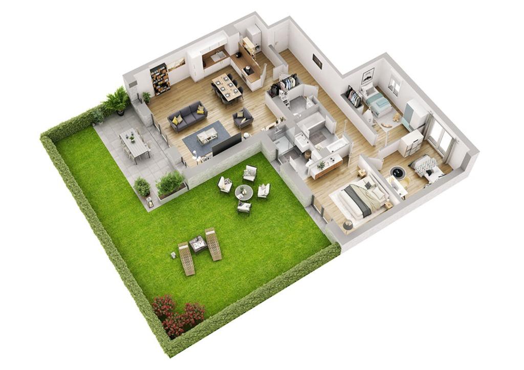 Vente appartement - MARCQ-EN-BAROEUL-PROGRAMME ROMANCES - T4 BATIMENT C1 ET D1