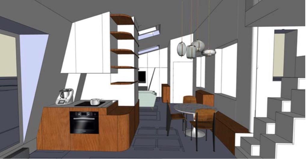 Paris 19 - Secrétan - 3 pièces dernier étage avec ascenseur