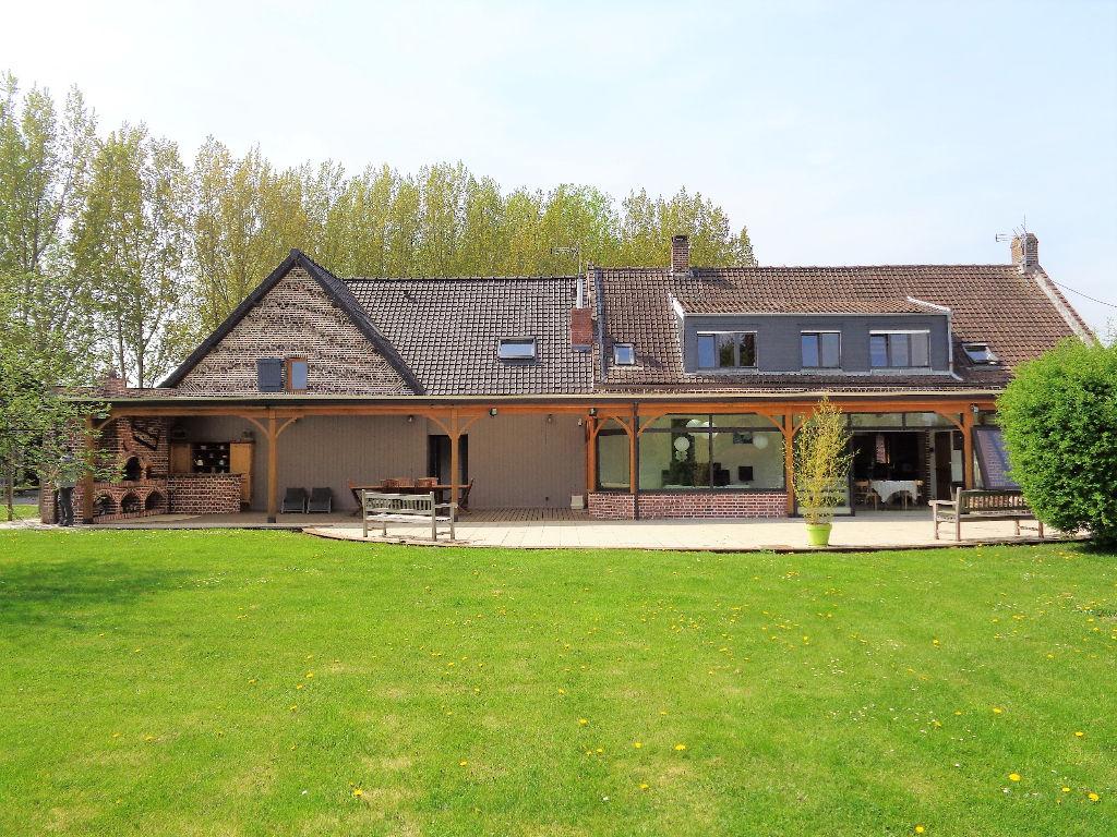 Vente maison 62136 Lestrem - Magnifique propriété sur 10 000m2. coeur de la LYS.